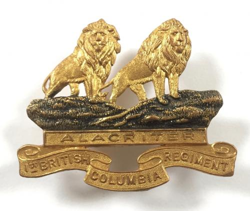 1st British Columbia Regt cap badge