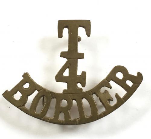 T / 4 / BORDER shoulder title 1908-21.