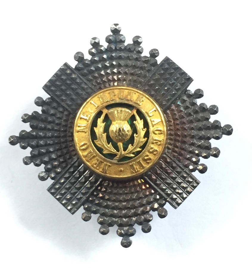 Scots Guards Officer's silver cap star
