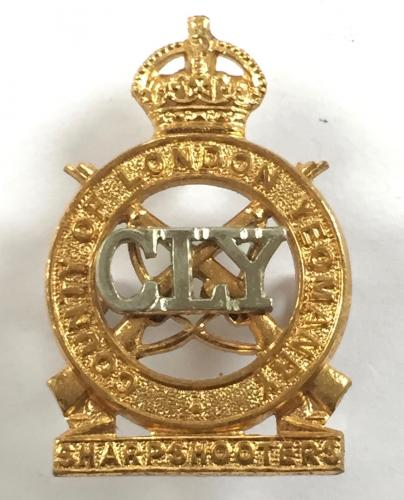 3rd CLY Sharpshooters Officer's cap badge