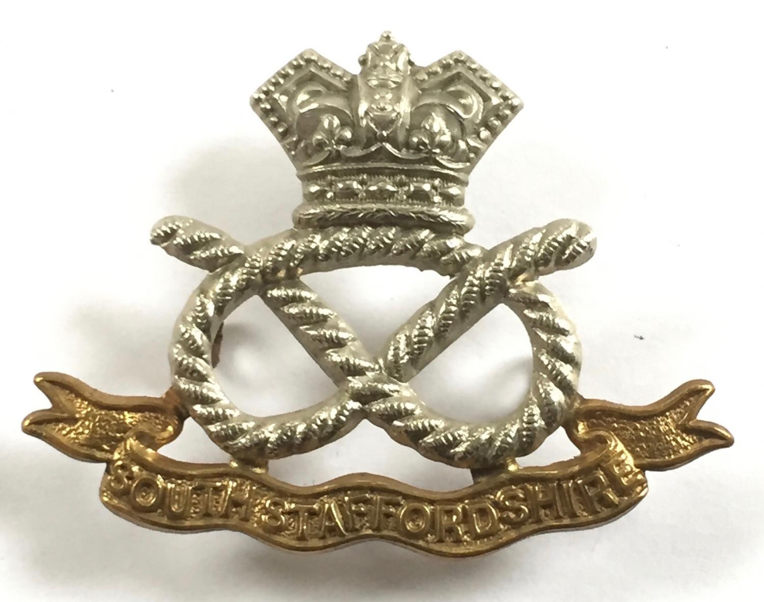 South Staffordshire Victorian cap badge