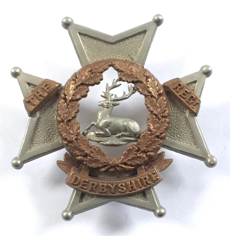 Derbyshire Regt. Victorian badge