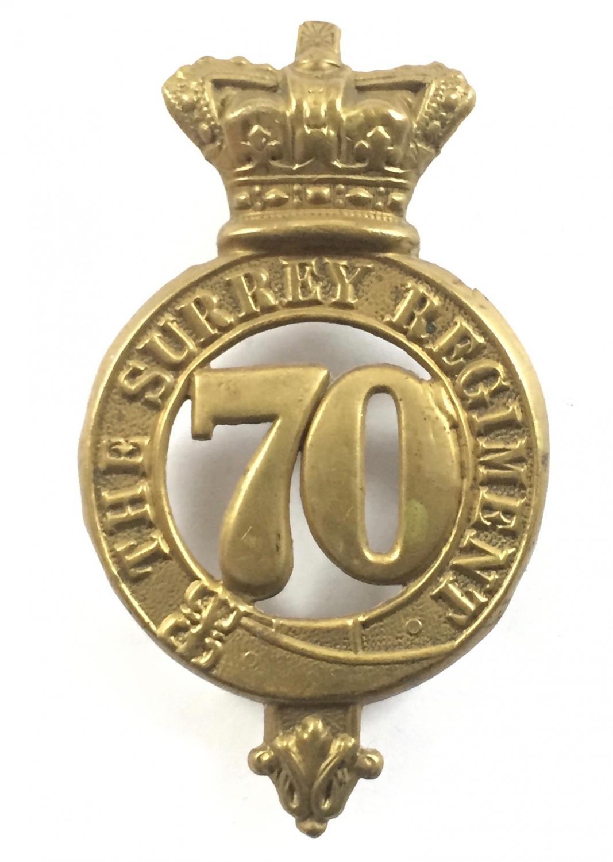 70th ( Surrey) Foot glengarry badge 1874-81