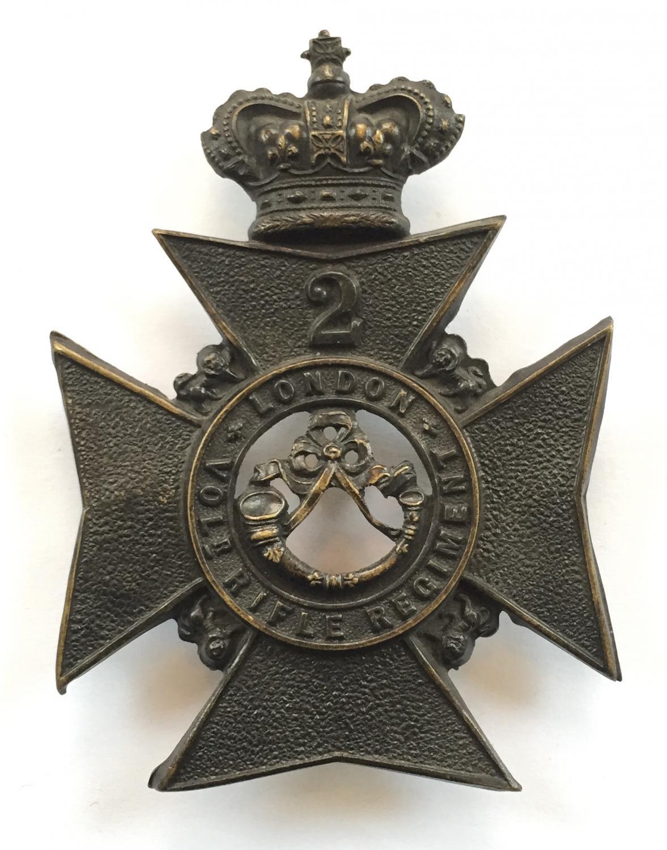 2nd London Vol Rifle Regt helmet plate