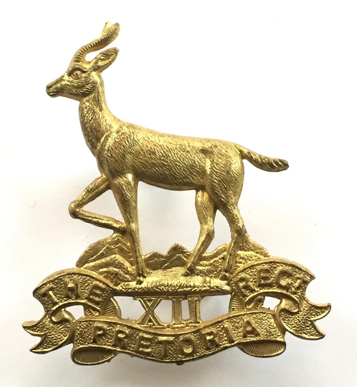 Pretoria Regiment helmet / cap badge