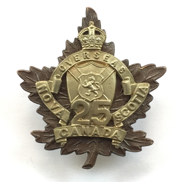 25th Bn CEF WW1 Officer's cap badge