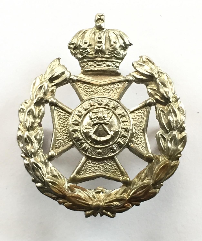 North Middlesex Rifles field service cap badg