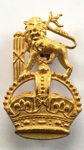 South African rich gilt Staff Corps pagri badge