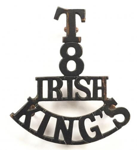 T/8/IRISH/KING'S post 1908 shoulder title
