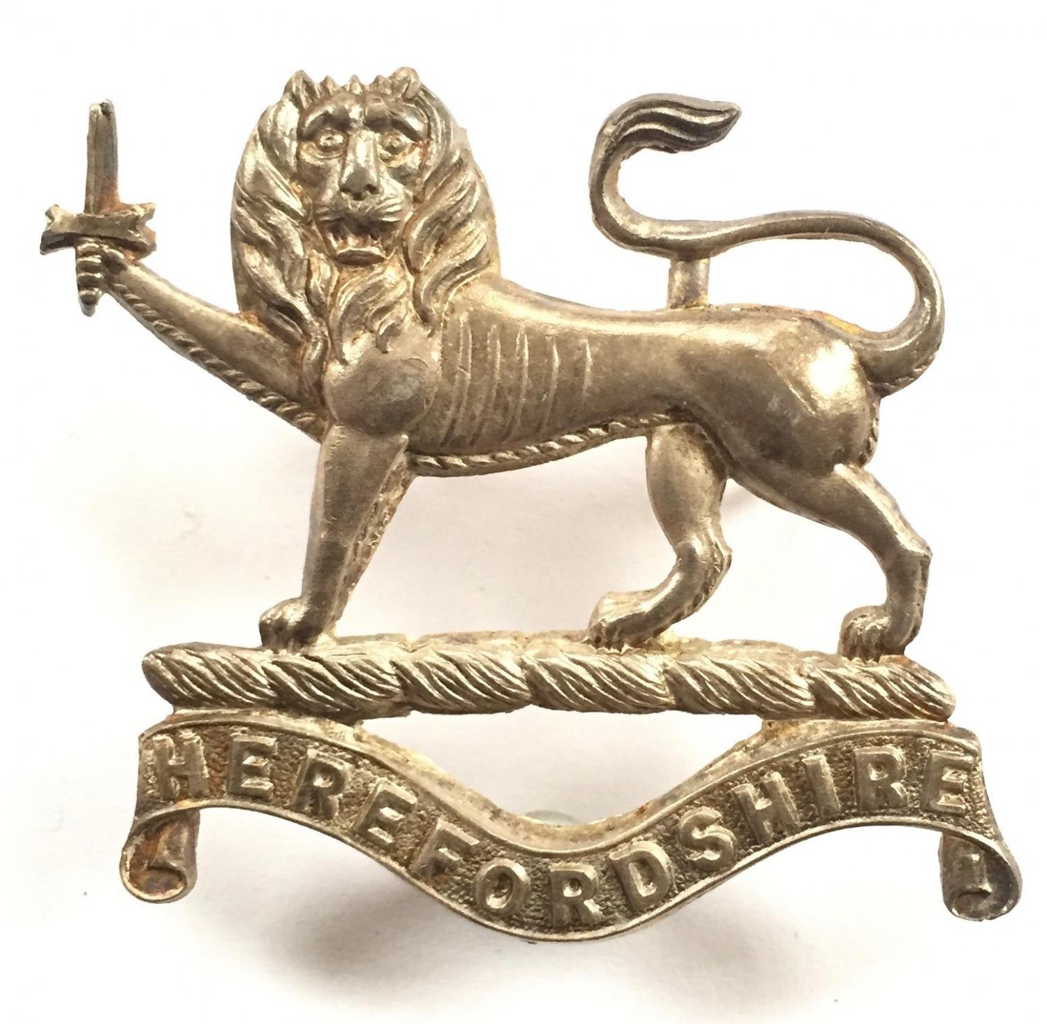 Herefordshire Light Infantry Officer badge