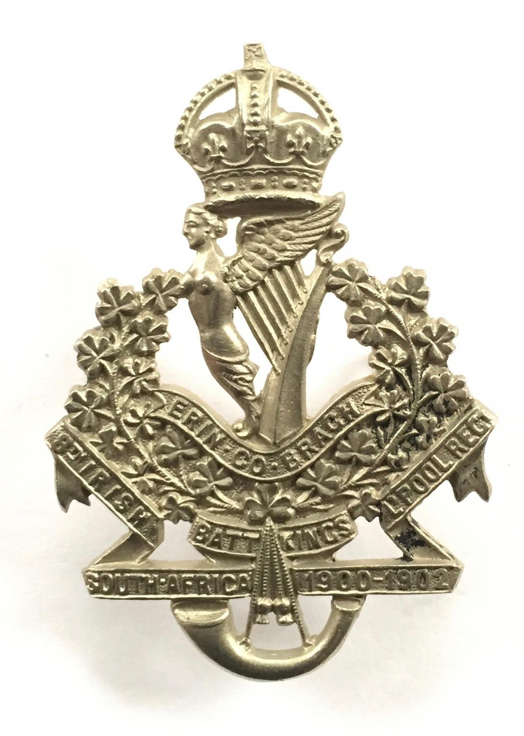 8th (Irish) King's Liverpool cap badge