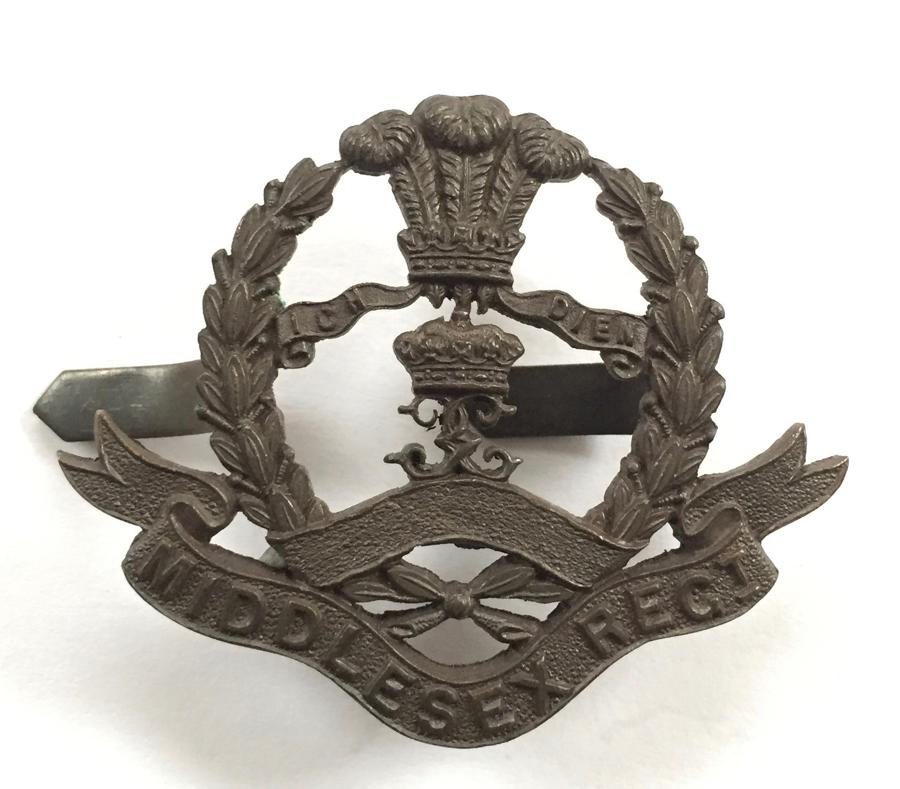 10th Bn Middlesex Regt OSD bronze cap badge