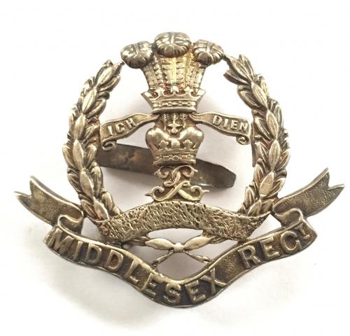 10th Bn Middlesex Officer cap badge