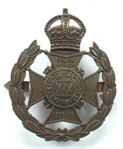 19th Bn. London Regt (St. Pancras) OSD cap badge