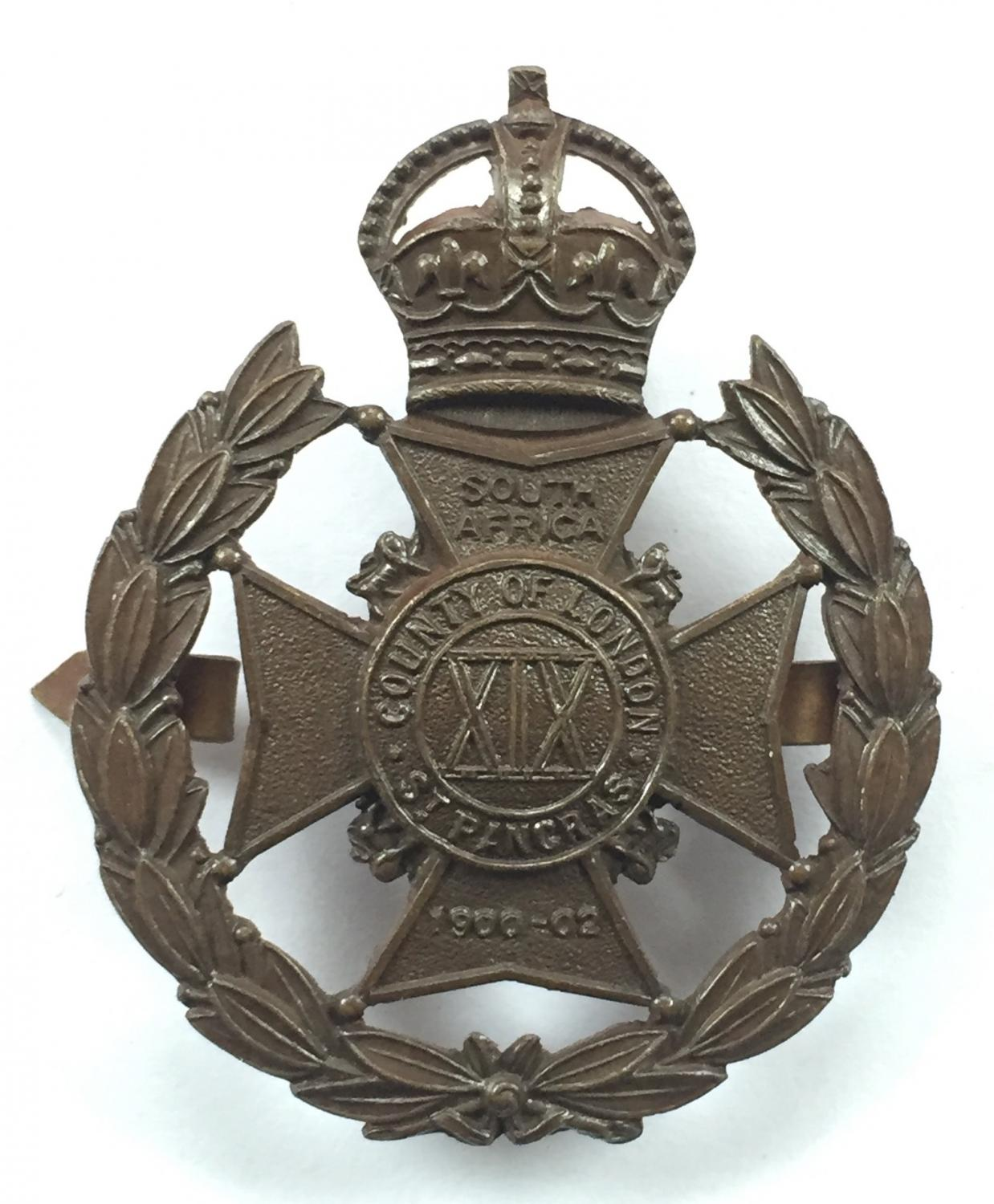 19th Bn. London Regt (St. Pancras) OSD cap badge