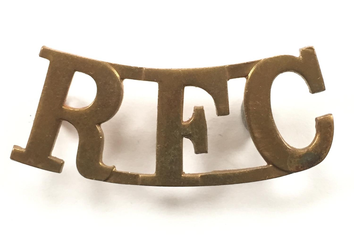RFC scarce Royal Flying Corps shoulder title