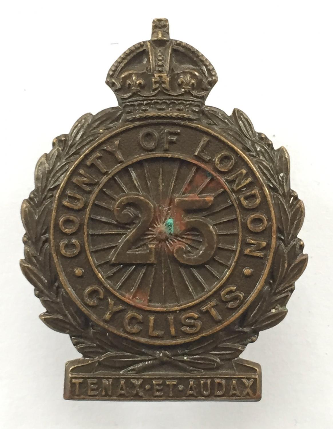 25th County of London (Cyclist) Bn. OSD badge