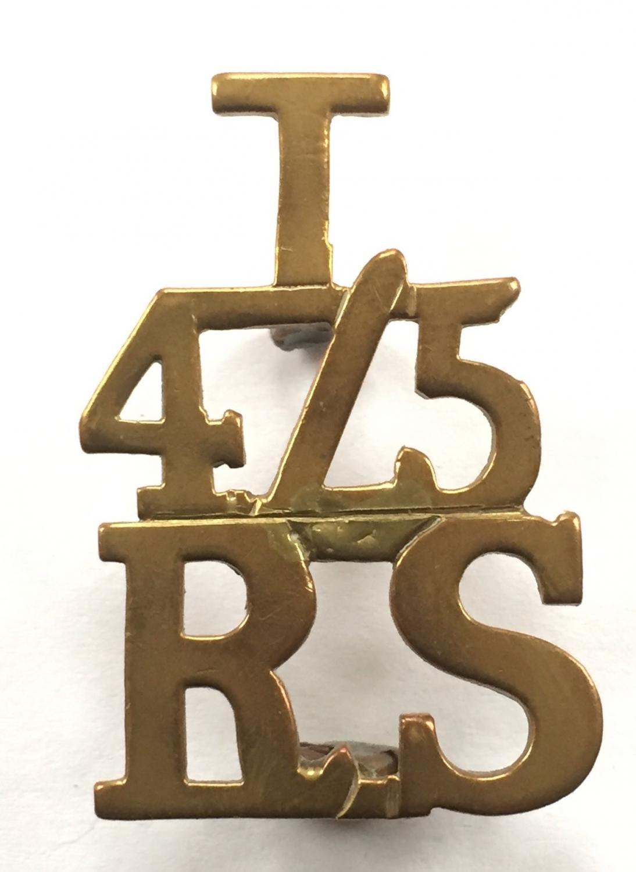 T / 4/5 / RS scarce shoulder title