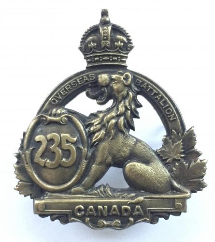 235th Bn CEF WW1 cap badge