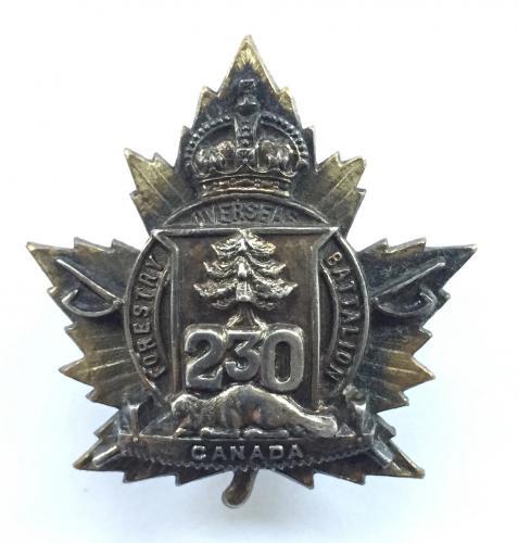 230 Forestry Bn CEF Officer cap badge