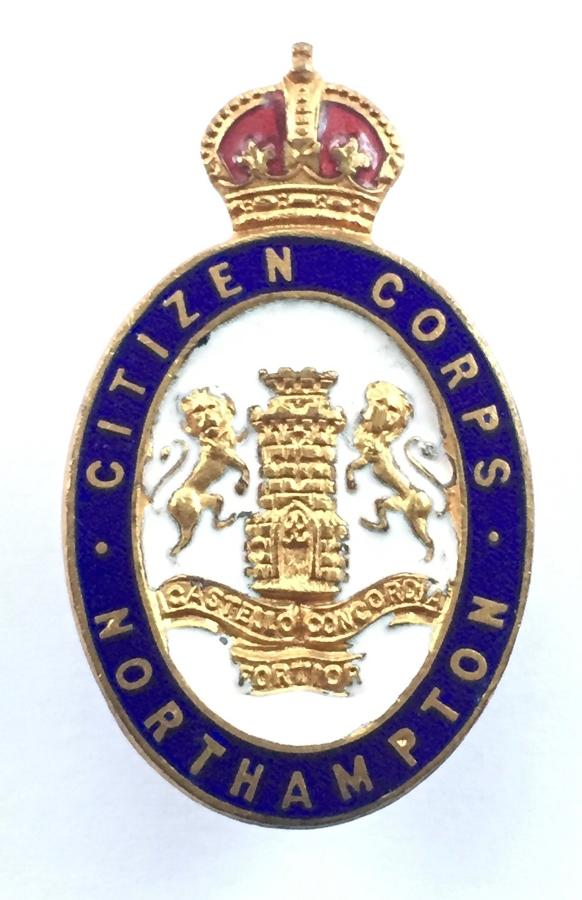 Northampton Citizen Corps WW1 VTC cap badge