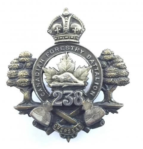 238th Forestry Bn Officer cap badge