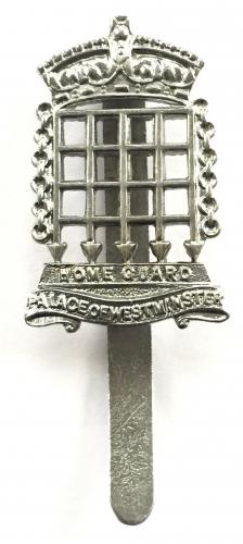 Palace of Westminster Home Guard cap badge
