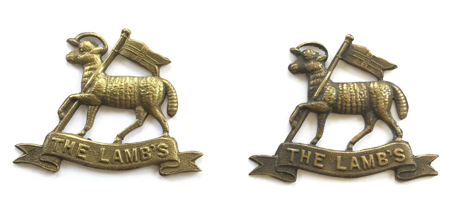 Light Armoured Motor Batteries collar badges.