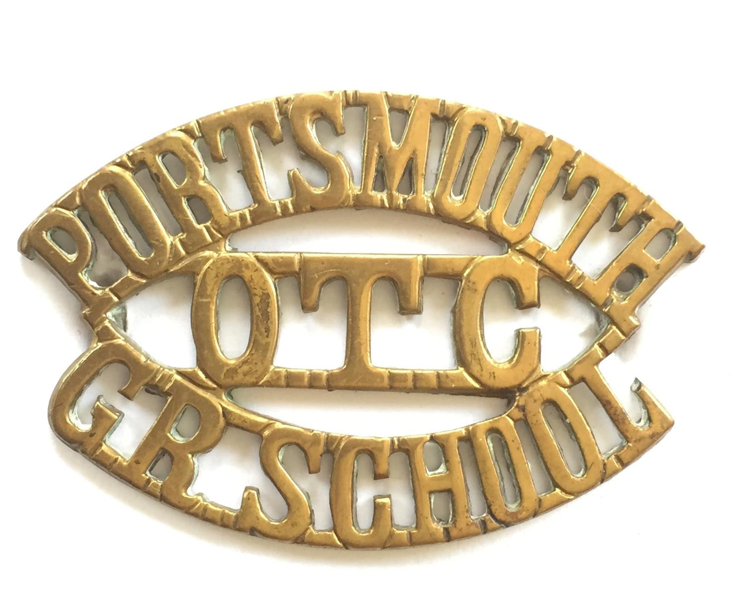 PORTSMOUTH / OTC / GR.SCHOOL shoulder title