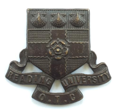 Reading University OTC cap badge