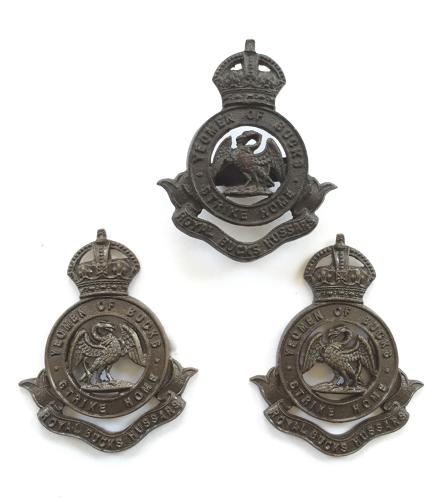 Royal Bucks Hussars OSD cap badge and collars