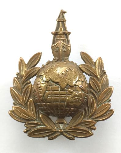 Royal Marines Labour Corps rare WWI cap badge