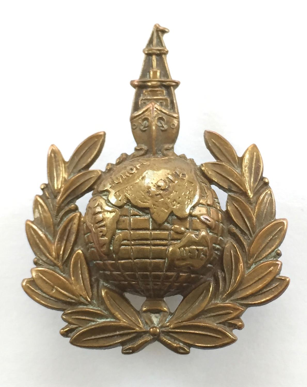 Royal Marines Labour Corps rare WWI cap badge
