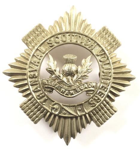 Transvaal Scottish Vols. glengarry badge