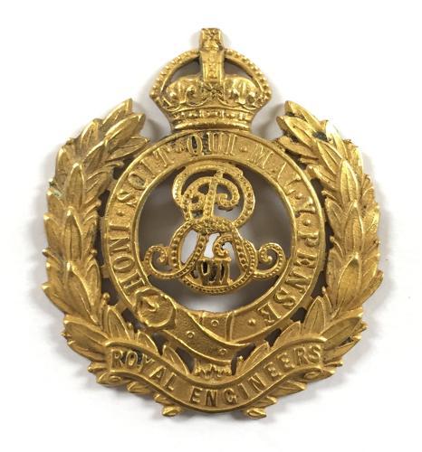 Royal Engineers EdVII Officer's cap badge