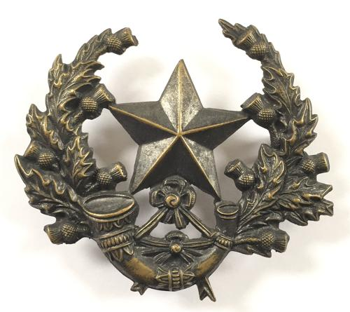 Scottish Rifles Victorian glengarry badge