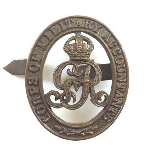 Corps of Military Accountants OSD bronze cap badge