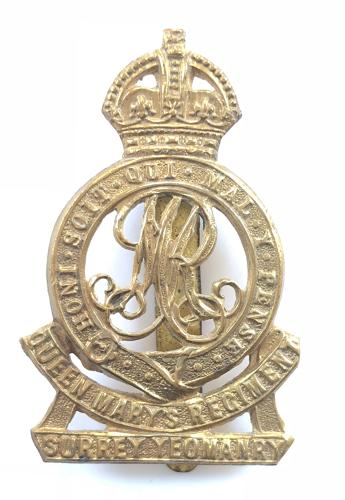 Queen Mary's Own Own Surrey Yeomanry cap badge