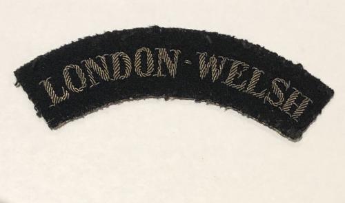 LONDON WELSH rare 99th AA Regt. RA rare WW2 shoulder title.