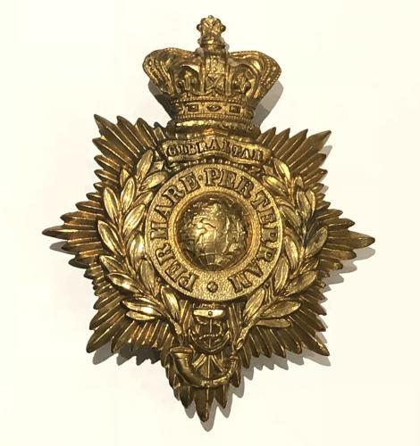 Royal Marine Light Infantry Victorian OR's shako plate circa 1866-78
