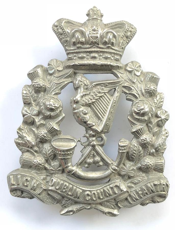 Irish: Dublin County Light Infantry Victorian OR's glengarry badge