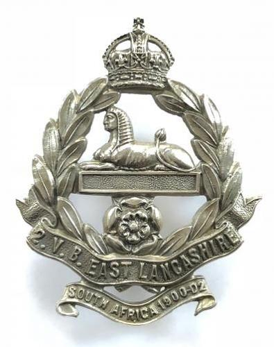 2nd VB East Lancashire Regiment OR's cap badge circa 1905-08.