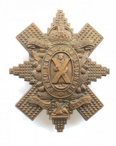 Scottish. Black Watch brass glengarry badge