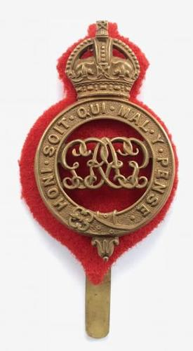 Grenadier Guards George V OR's brass pagri badge circa 1910-35.