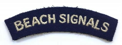 BEACH SIGNALS scare WW2 cloth shoulder title.