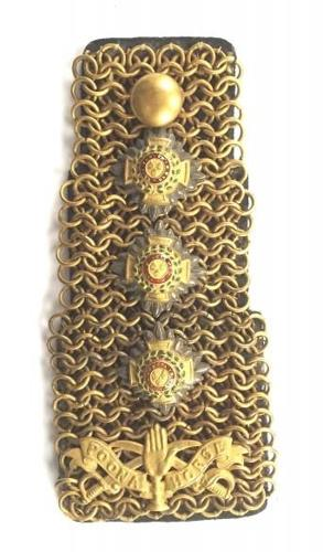 Indian Army Poona Horse Cavalry Officer's Shoulder Chain.