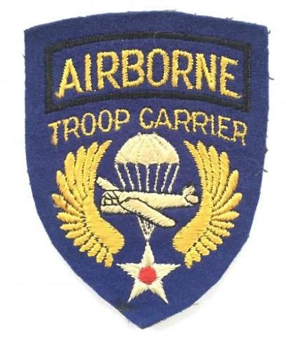 US. Airborne Troop Carrier WW2 formation badge.