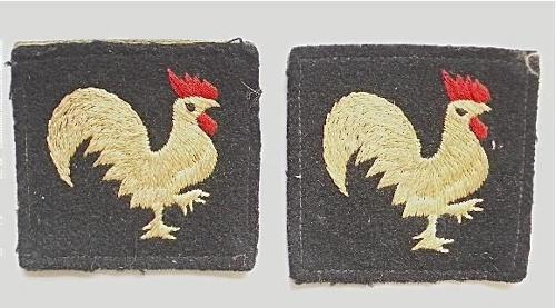 40th.Infantry Division Korean War pair of embroidered formation signs