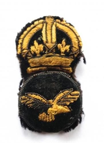 WW1 RAF Senior NCO 1st Pattern Cap Badge Variation circa 1918.