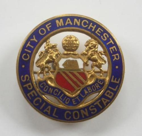 City of Manchester Special Constable WW1 era Lapel Badge.